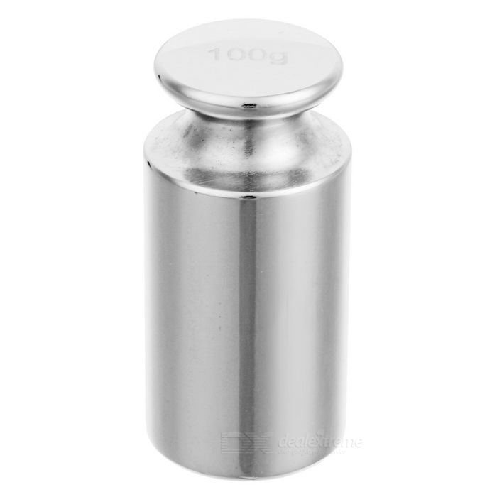 100g Chromium Plating Calibration Weight for Digital Scale - Silver