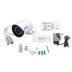 ESCAM QE07 ONVIF P2P CMOS 3.6mm Lens Bullet IP Camera - White(UK Plug)
