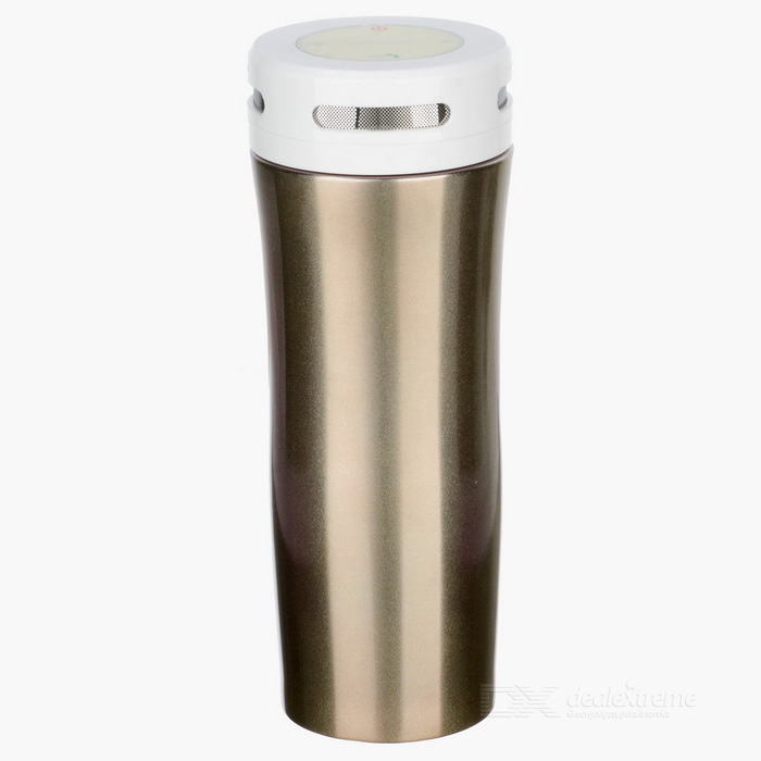 GUB 380ml Bluetooth Música Isolamento Térmico Bottle - Gold + branco