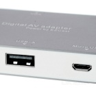 Phone Tablet to HDMI VGA Adapter Airplay for IPHONE / Android - Grey