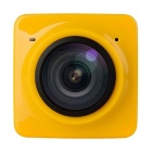 CMOS 360 Degree Panoramic HD Sports Camera Camcorder - Yellow