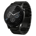 Motorola moto 360 (2nd gen.) - mens 46mm, musta, jossa black metal bändi