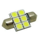 HONSCO Festoon 31mm 1W Cool White LED Light Dome Lamp (DC 12V)