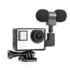 Stereo Microphone with Frame + Case for GoPro 3 / 3+ - Black