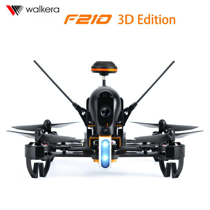 Walkera F210 3D Edition BNF Wall Racing Drone - Black + Orange + Blue