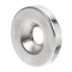 DIY 15*3mm Sink Hole NdFeB Magnet - Silver (20PCS)
