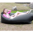 Lazy Beach Inflation-Free Bed Cushion Sleeping Bag - Black