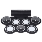 Portable Folding Electronic Drum - Black + White