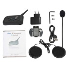 Motorcykel Bluetooth Neckband Interphone Hjälm Headset - Svart