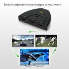 3 Input 1 Output 4K 3D HD 1.4 HDMI Switcher Splitter - Black