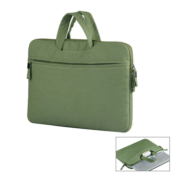 "Canvas Tote Bag for 13"" Laptop PC - Army Green"