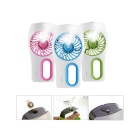 2-in-1 Portable USB Mini Humidifier Air Cooling Fan - Green