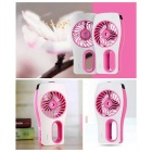 2-in-1 Portable USB Mini Humidifier Air Cooling Fan - Deep Pink +White