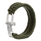 Outdoor Emergency & Survival Paracord Bracelet - Army Green