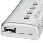 MT-SW241-CH 4-Port USB Printer Sharing Switcher Box - Silver