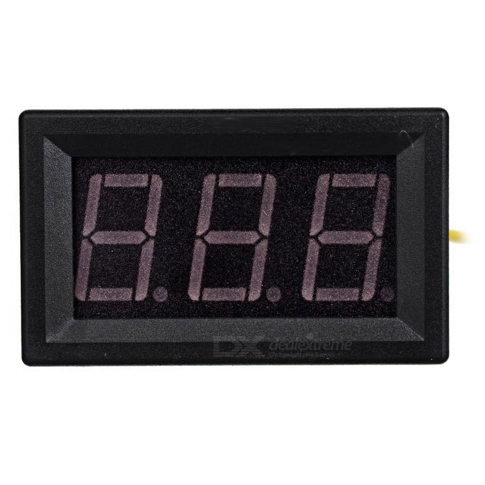"0,56 ""LED 2-Wire Tensão Digital Display Module - Black"