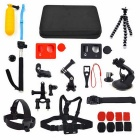 OP-01 Universal Action Camera Accessory Kit - Black