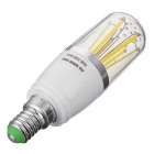 Marsing E14 6W 6-COB Cold White Light LED Filament Bulb (AC 85~265V)