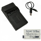 Ismartdigi LPE8 Battery + Micro USB Charger for Canon LP-E8 - Black