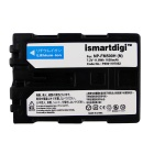 Ismartdigi FM500H Battery + Micro USB Charger for Sony NP-FM500H