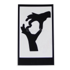 Hat-Prince Love Pattern Removable Skin Sticker for IPAD - Black