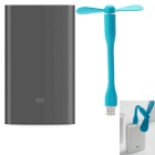 Original Xiaomi Mi Pro 10000mAh Type-C USB Power Bank + USB Fan - Blue