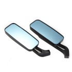 Aluminum Motorcycle Cruiser Chopper Rear View Mirrors - Black