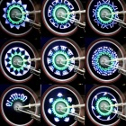 Bicycle Bike Colorful 14-LED Spoke Wheel  Light - White