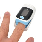 "1.1"" OLED Display Fingertip Pulse Oximeter - White + Blue"