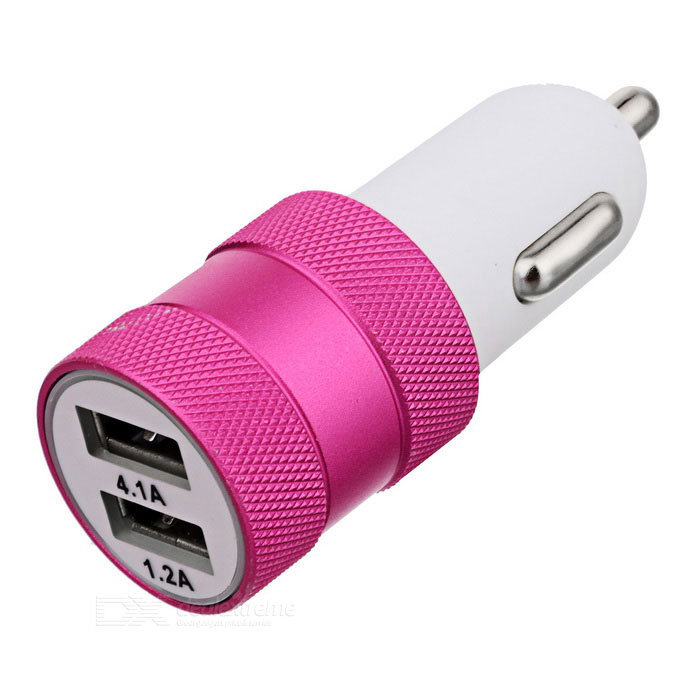 ZCHY-1282 4.1A Dual USB Car Charger - Deep Pink + WhiteCar Power Chargers<br>Form  ColorWhite + Deep PinkModelZCHY-1282Quantity1 DX.PCM.Model.AttributeModel.UnitMaterialAluminum alloy + ABSShade Of ColorWhiteInput Voltage12~24 DX.PCM.Model.AttributeModel.UnitOutput Voltage5 DX.PCM.Model.AttributeModel.UnitOutput Current4.1 DX.PCM.Model.AttributeModel.UnitInterfaceUSBApplicationChargingPacking List1 * Car charger<br>