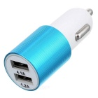 ZCHY-1285 4.1A Dual USB Car Charger - Blue + White
