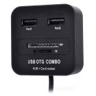 2-in-1 čtečka / TF / SD karta USB 2.0 + Micro USB OTG HUB - Black