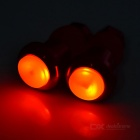 Bicycle Body Mount 2-Mode 2-LED Warning Safety Lights (2*AG10 / Pair)