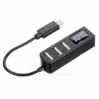 "USB 3.1 Type C to 4-Port USB 2.0 HUB w/ OTG for MACBOOK 12"" - Black"