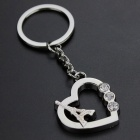 Eiffel Tower & Heart Design Zinc Alloy Keychain - Silver