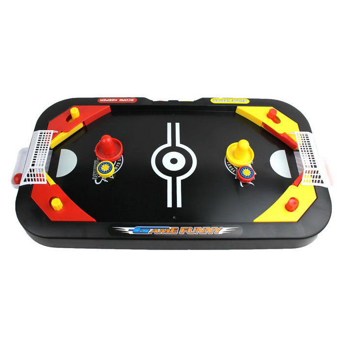 Mini Ice Hockey Desktop Game - Black + Red