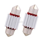 MZ Festoon 31mm 12-LED 1.5W Car Canbus Reading Lamp Cold White (2PCS)