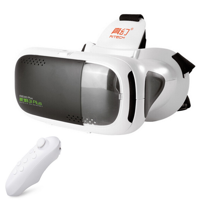 RITECH 3plus Virtual Reality VR 3D Glasses  + BT Console - White