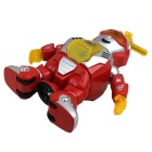 360-Degree Rotating Electric Flash Dancing Robot - Red + Silver