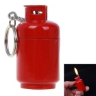Alloy Butane Gas Lighter & Keychain, fácil de transportar
