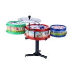Petit Jazz Electronic Drum Toy cadeau en plastique Set Kids - Rouge + Bleu