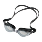 Adjustable Electroplating Non Fogging Anti-UV Swimming Goggle - Black