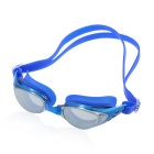 Adjustable Electroplating Non Fogging Anti-UV Swimming Goggle - Blue