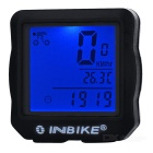 INBIKE 14-Function Bike Odometer Speedmeter w/ Blue Backlit - Black