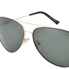 SENLAN 5046P3 Polarized Sunglasses - Golden Frame + Dark Green Lens