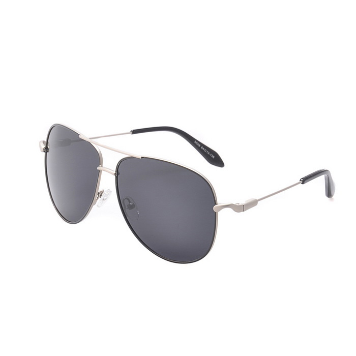 SENLAN 5048P2 Polarized Sunglasses - Silver Frame + Grey Lens