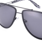 SENLAN 5067P1 Polarized Sunglasses - Black Frame + Grey Lens