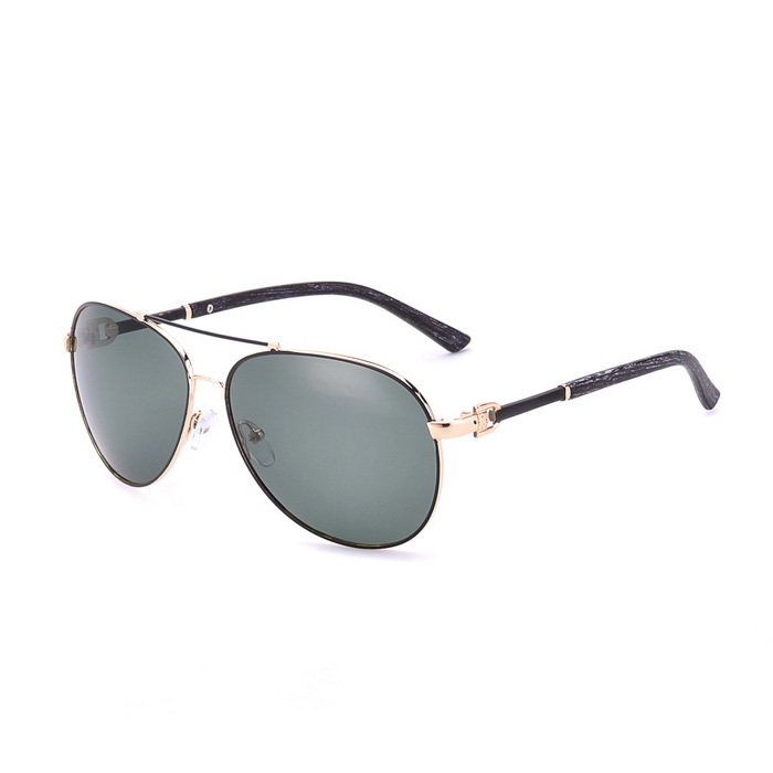 SENLAN 5058P3 Polarized Sunglasses - Gold Frame + Dark Green Lens