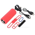 Outdoor Waterproof Bass Bluetooth Speaker w/ TF Card Slot - Red