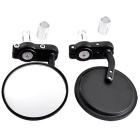 QooK JHBY50 Motorcycle Rearview Mirror for Honda - Black (2 PCS)
